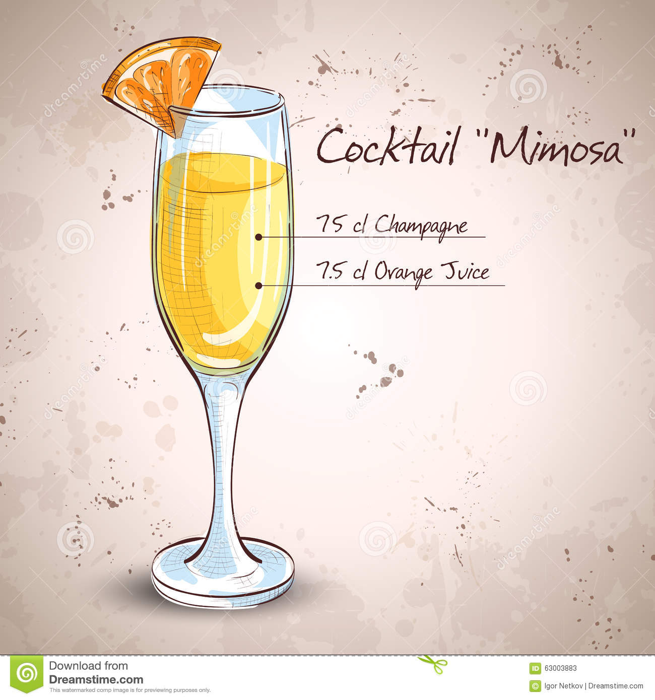 Alcohol stock image 88074583 for How many mimosas per bottle of champagne