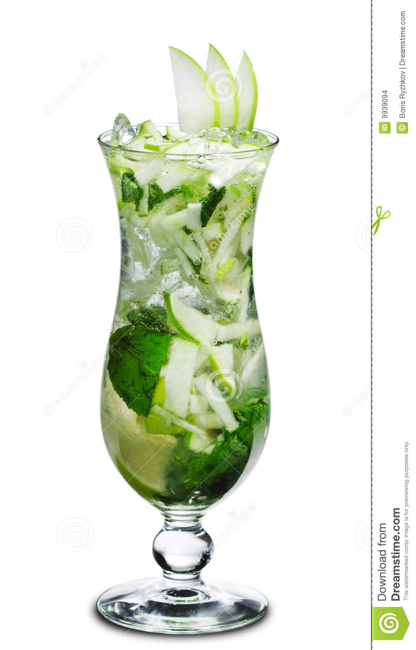 Cocktail apple mojito stock images image 9939094 for Green apple mixed drinks