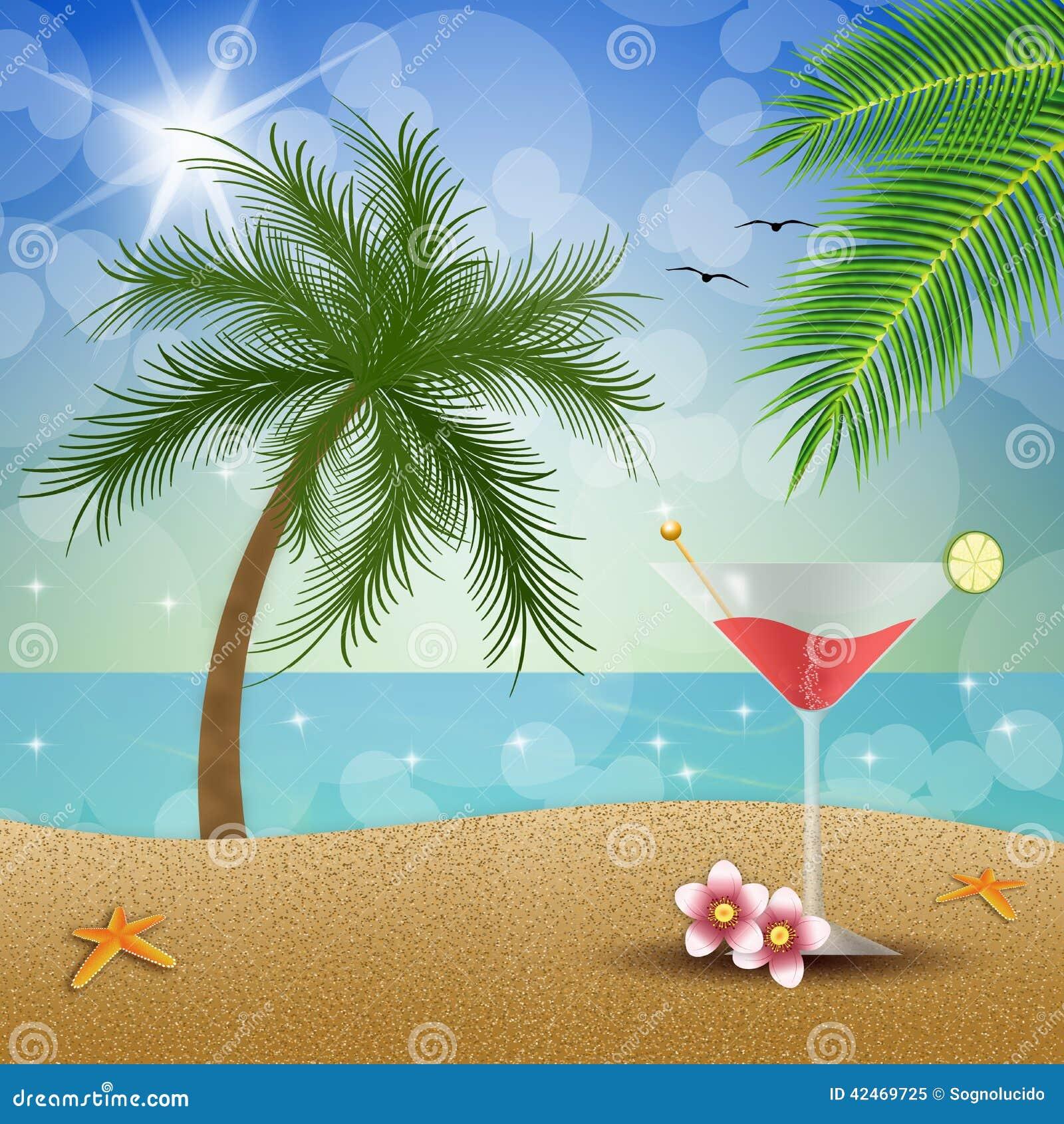 Cocktail auf dem Strand
