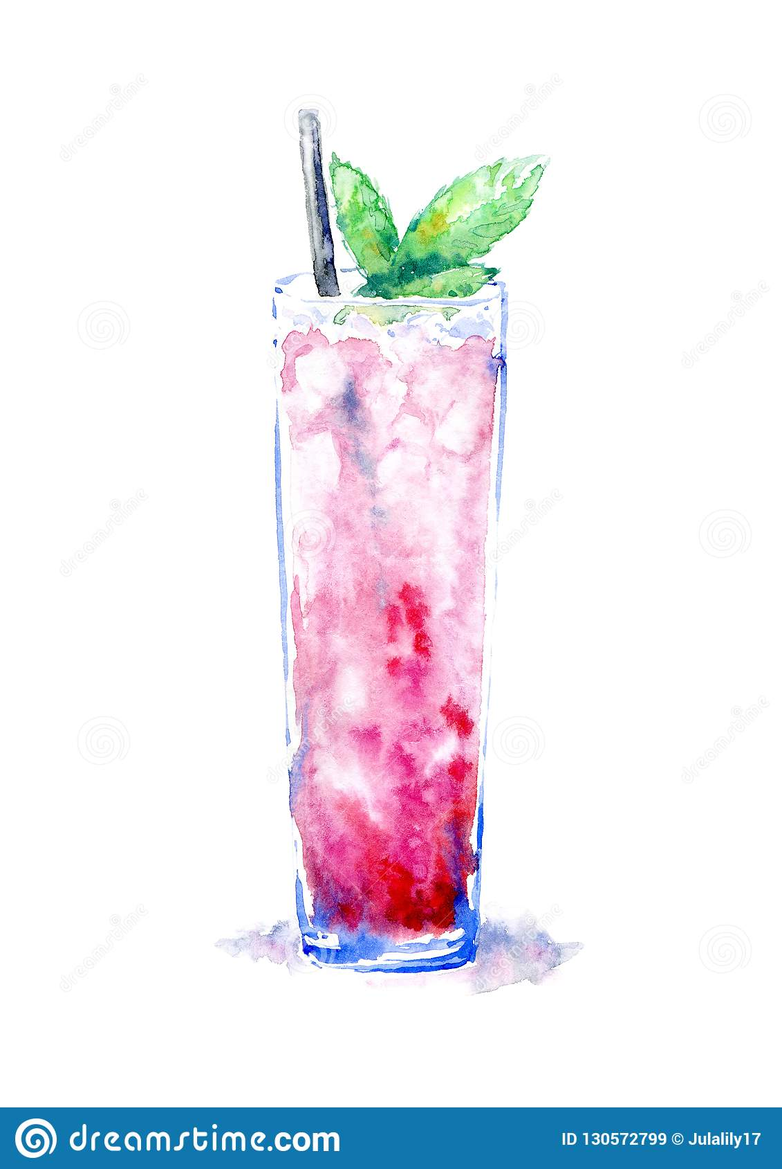 Cocktail avec la menthe de glace Photo d une boisson alcoolisée