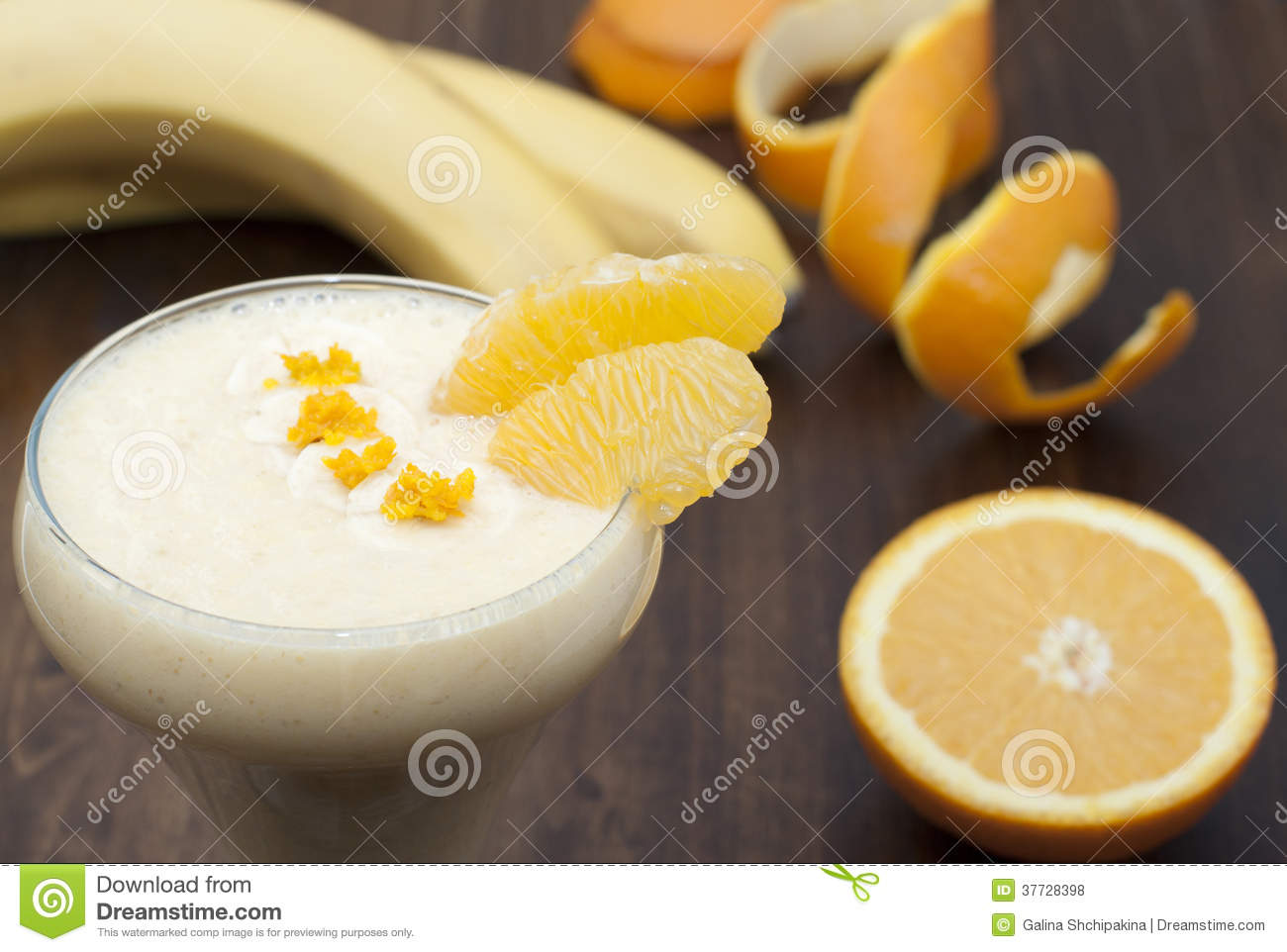 Cocktail of banana with orange