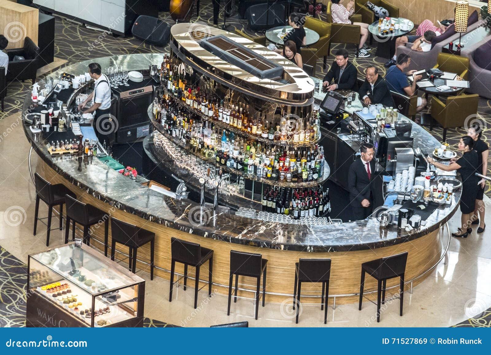 Cocktail Bar Inside The Marina Bay Sands, Singapore ...