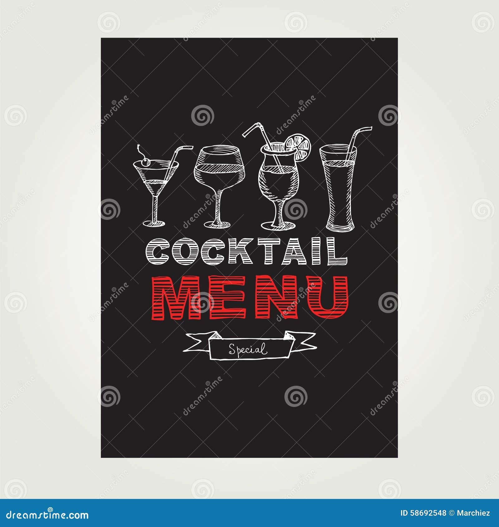 Cocktail Menu Design Free