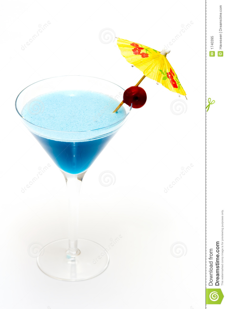 Cocktail with blue curacao royalty free stock photo for Cocktail curacao