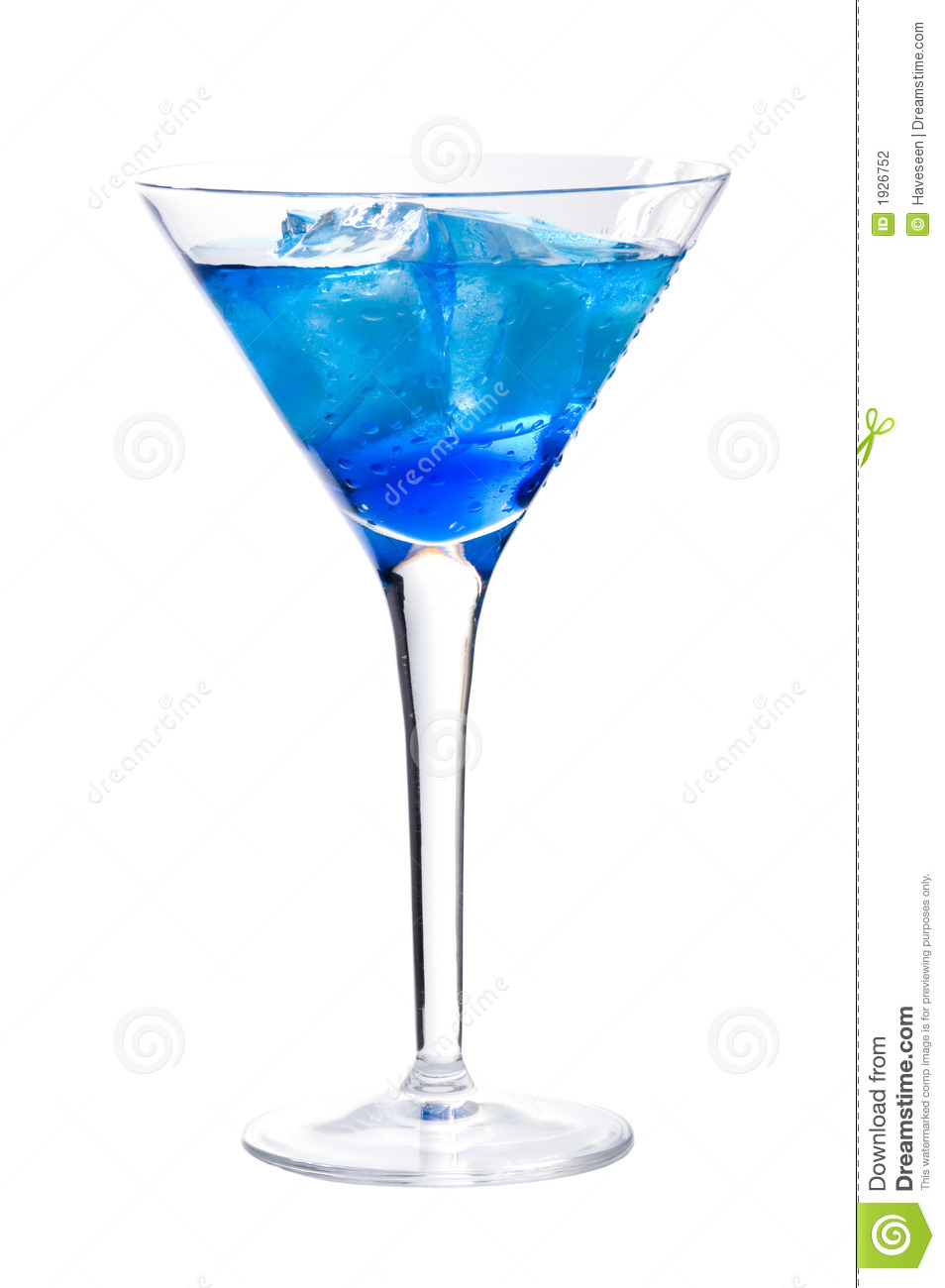 Cocktail With Blue Curacao Stock Photography Image 1926752
