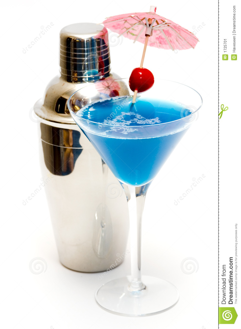 Blue Kamikaze Cocktail The Image Kid
