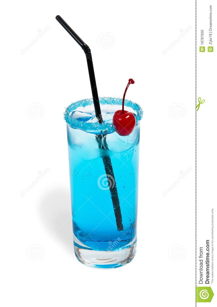 Cocktail blue lagoon royalty free stock photo image for Blue lagoon cocktail