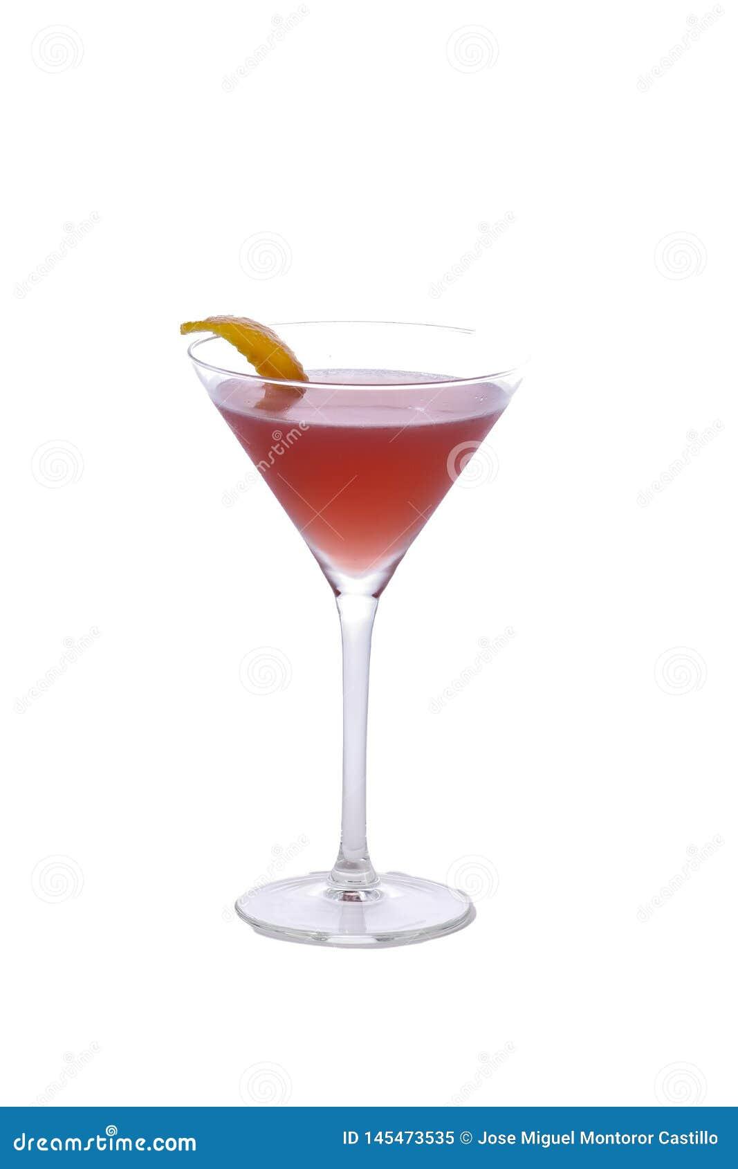 Cocktail cosmopolita no fundo isolado