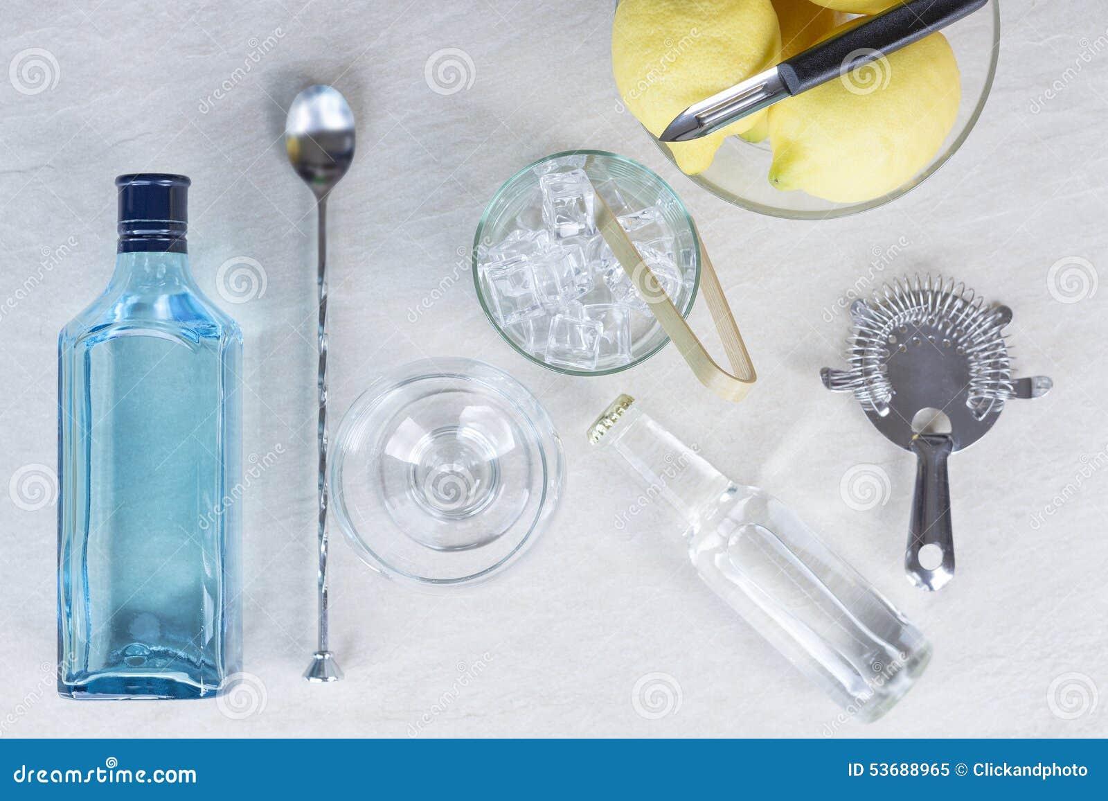 Cocktail de tonique de genièvre