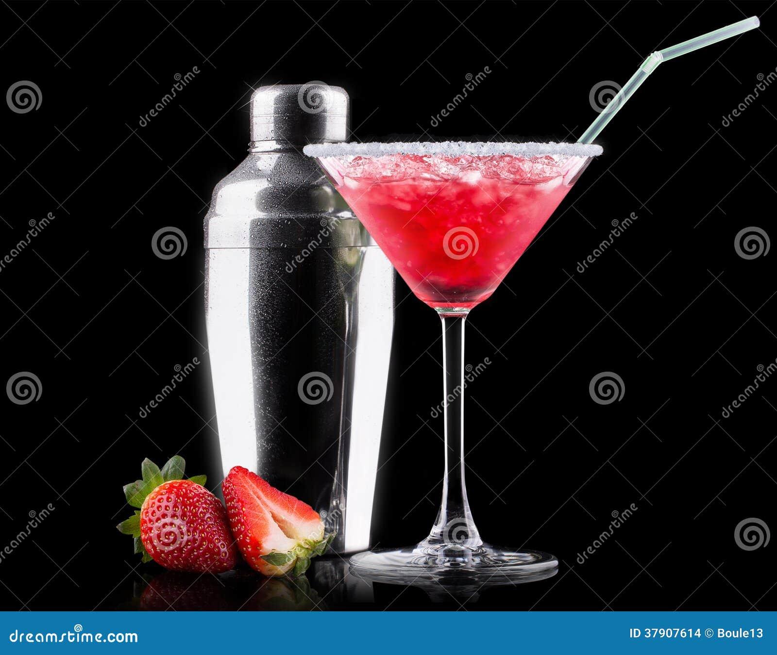 Cocktail del dispositivo di raffreddamento della bacca sul nero