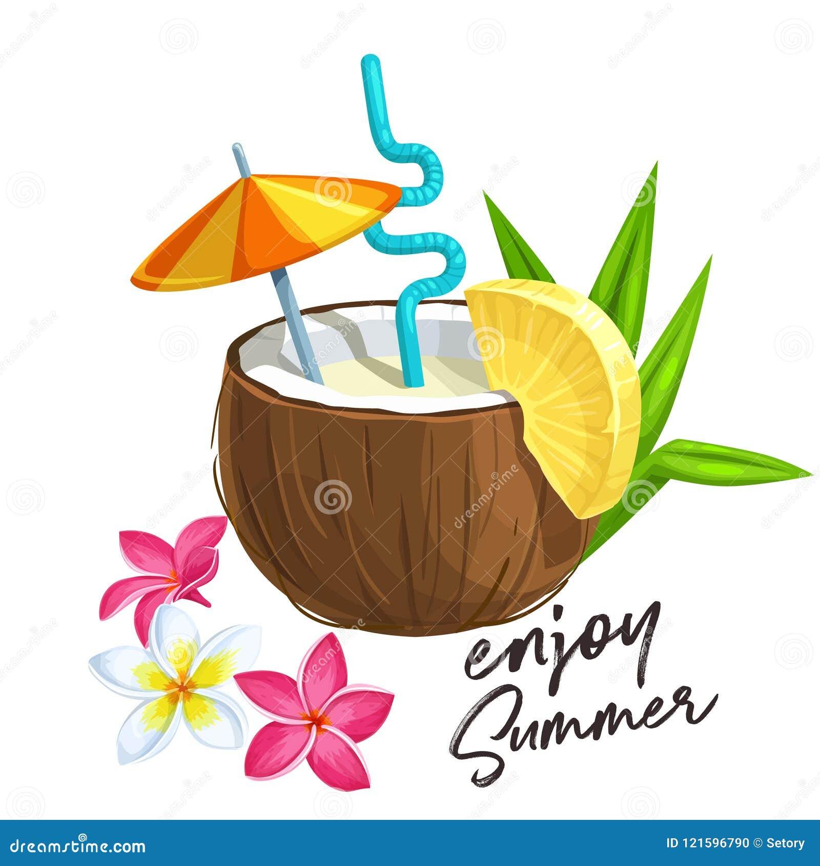 Cocktail di colada di Pina in noce di cocco