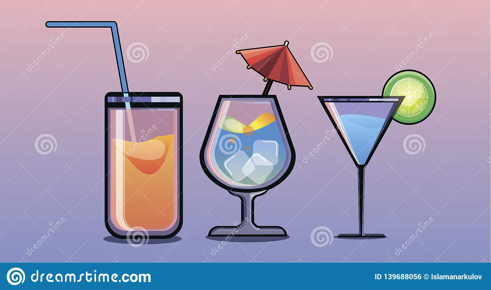 A cocktail of different