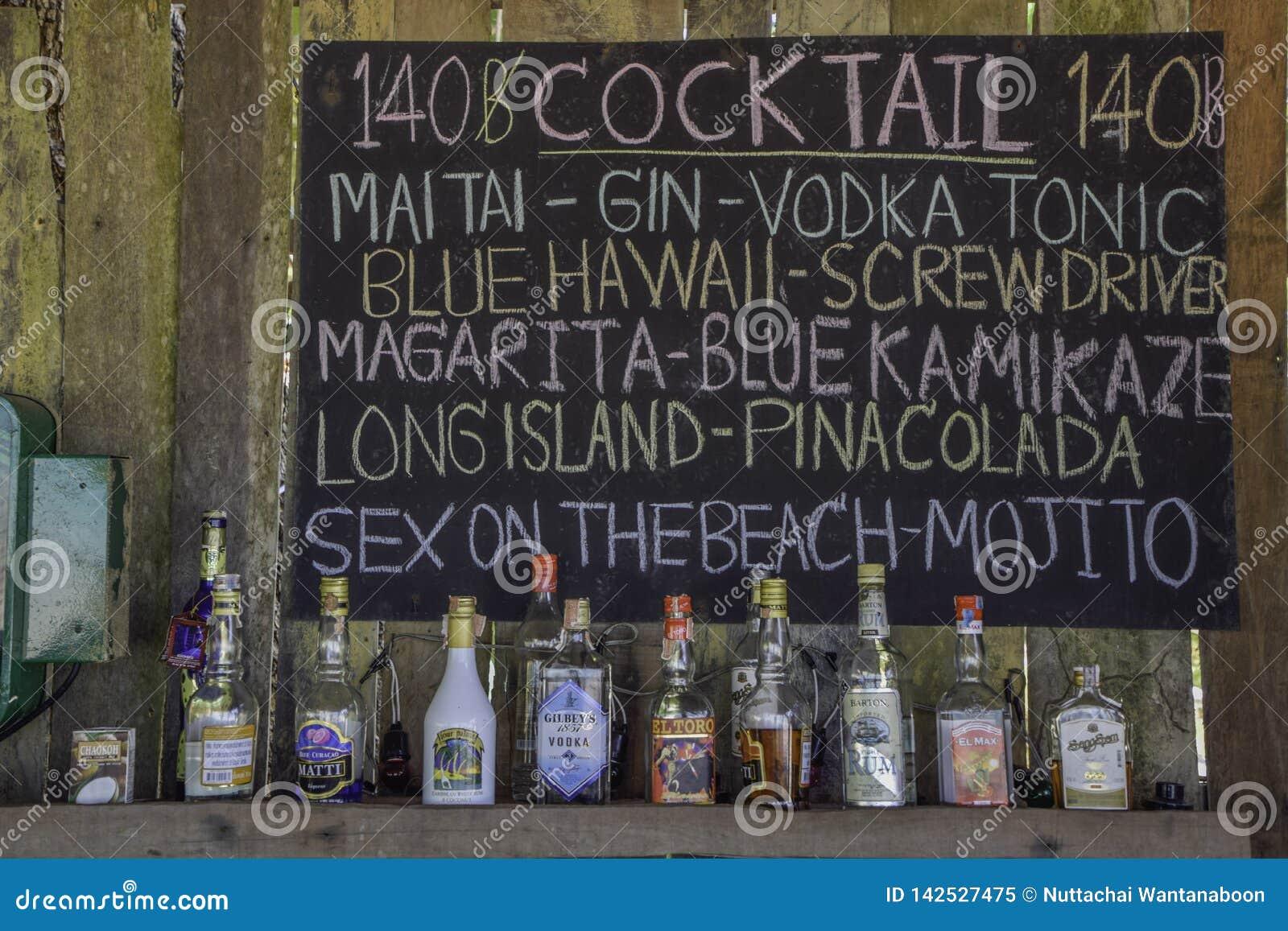 Cocktail do menu