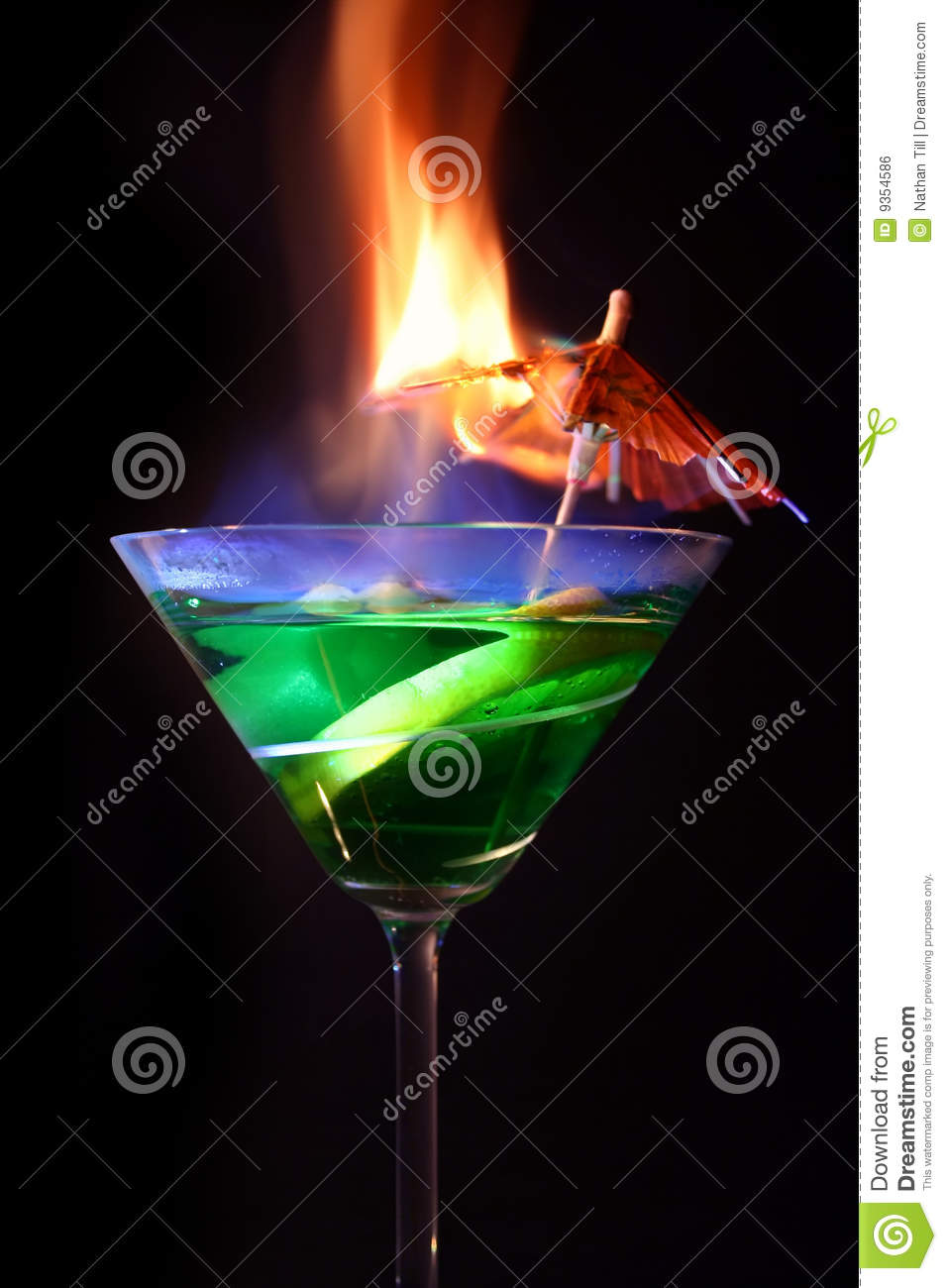Cocktail flaming