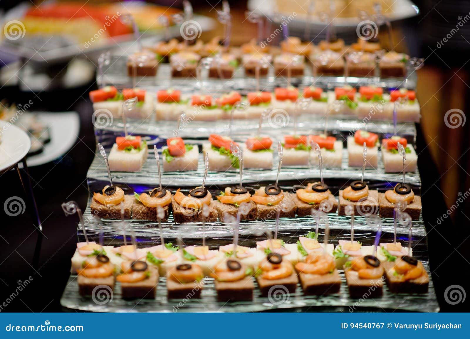 Cocktail Food Catering Dessert Wedding Stock Image - Image ...