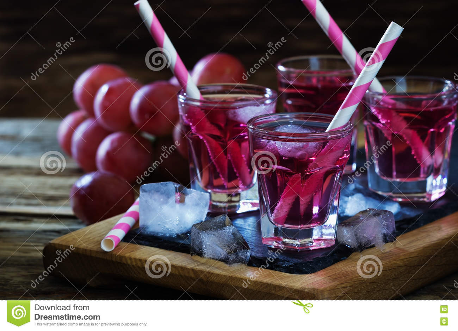Cocktail fresco das uvas
