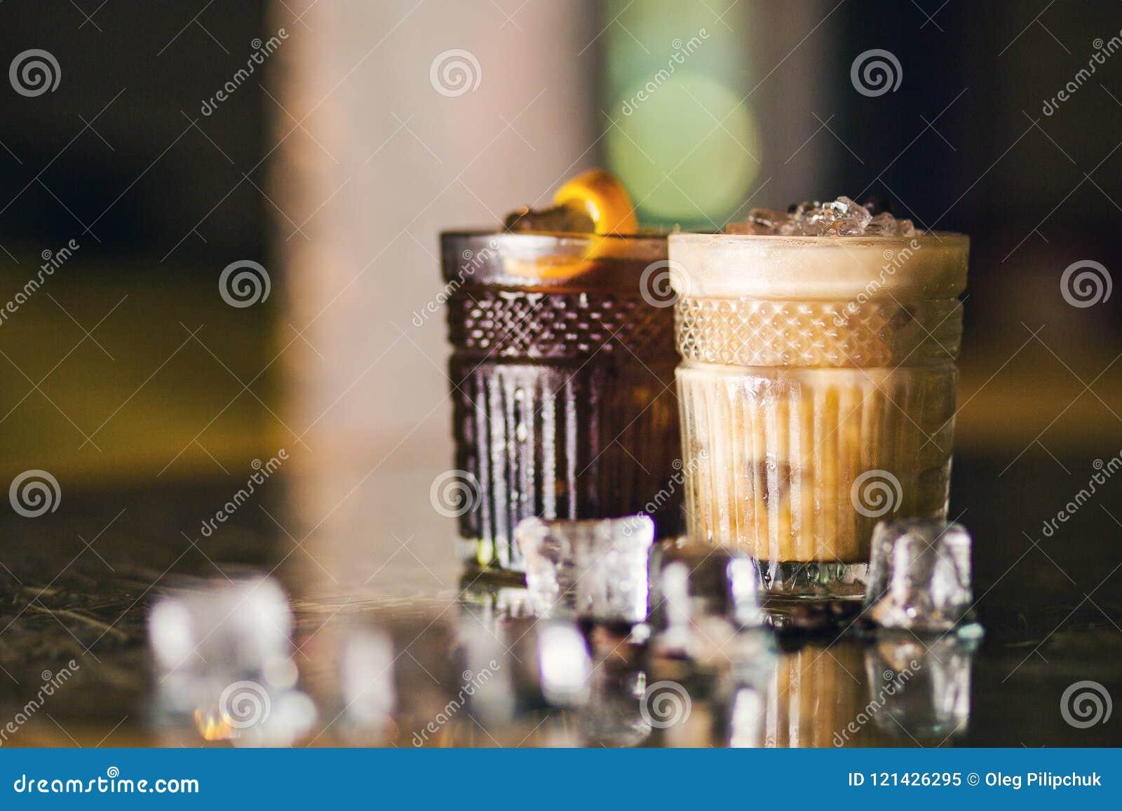 Cocktail frios do café