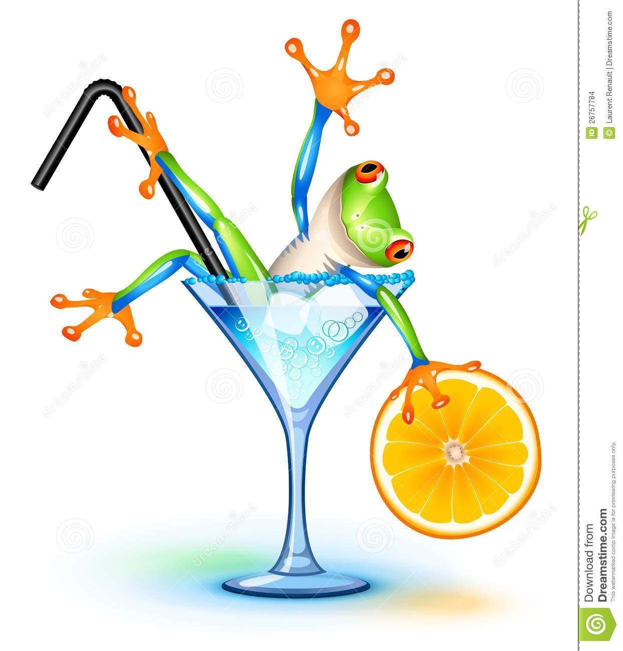 Cocktail Frog Stock Images - Image: 26757784