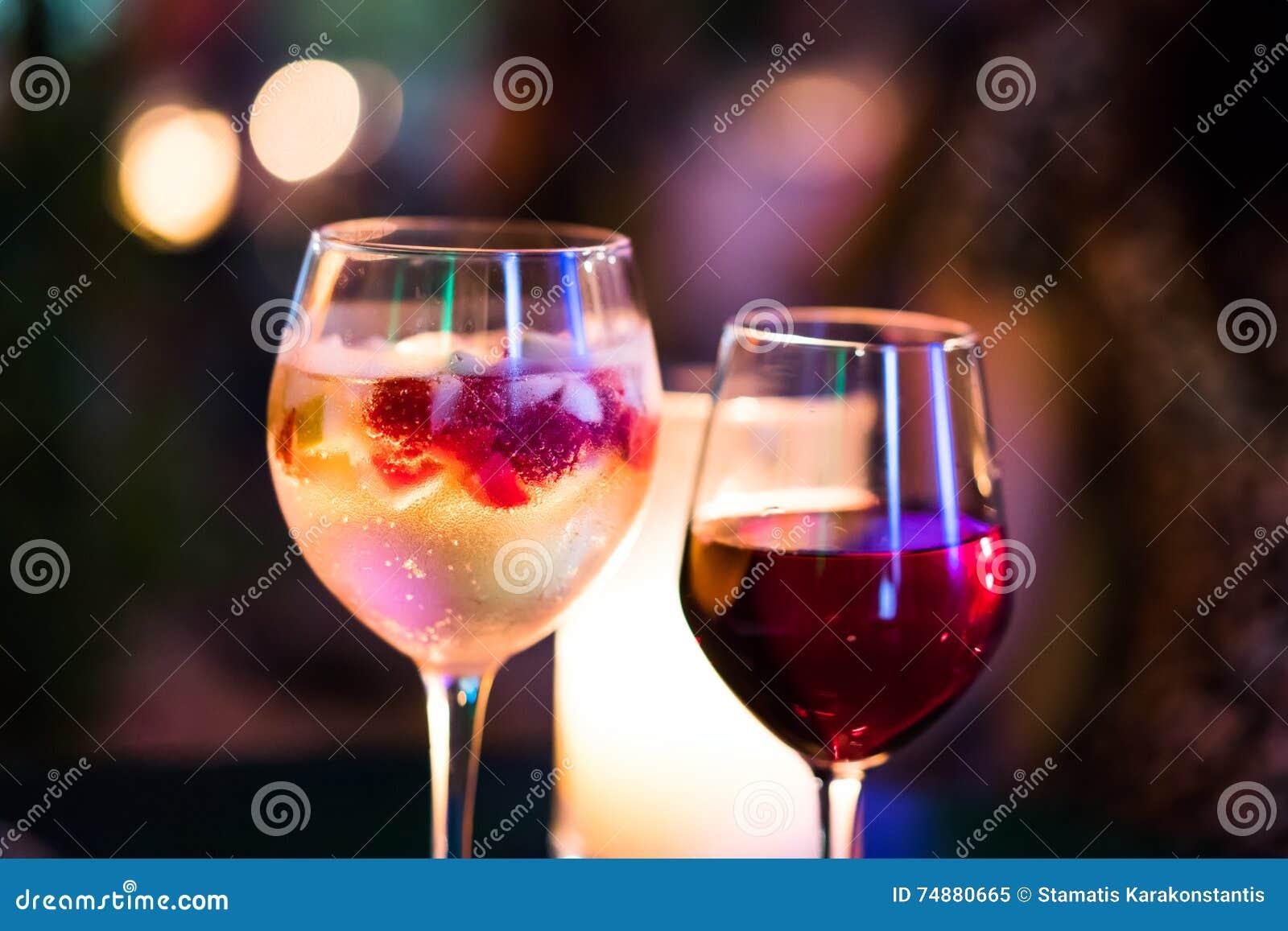 Cocktail frutado do champanhe