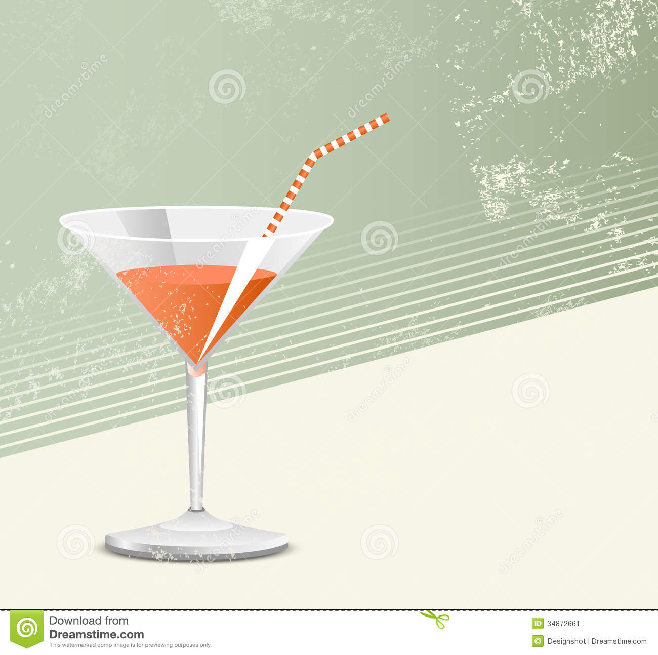 Cocktail Glass - Retro Style Stock Image - Image: 34872661