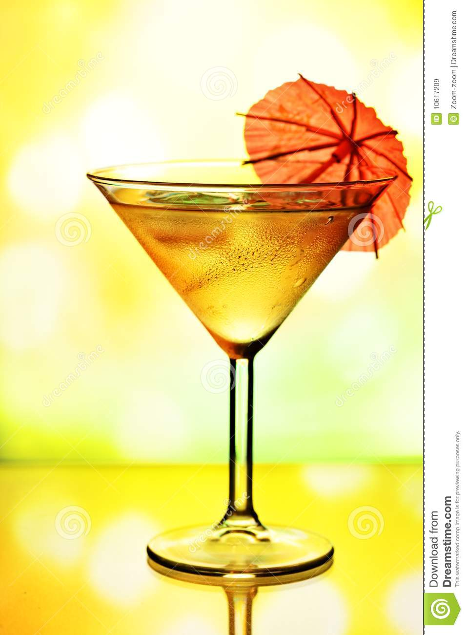 Christmas In A Glass Cocktail Of Cocktail Glass With Umbrella Royalty Free Stock Images