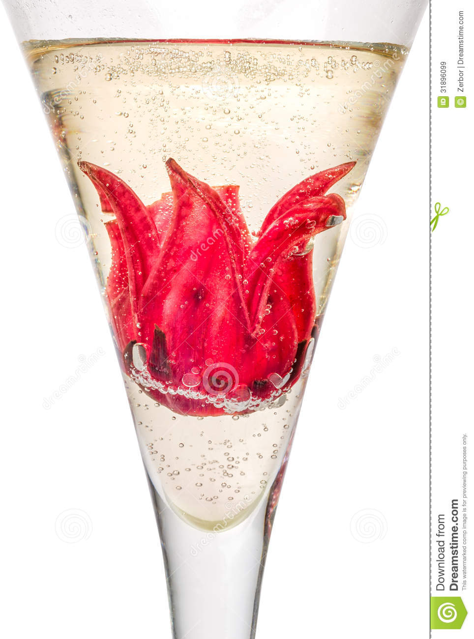 Cocktail With Hibiscus Flower Stock Image Image Of Cool Party