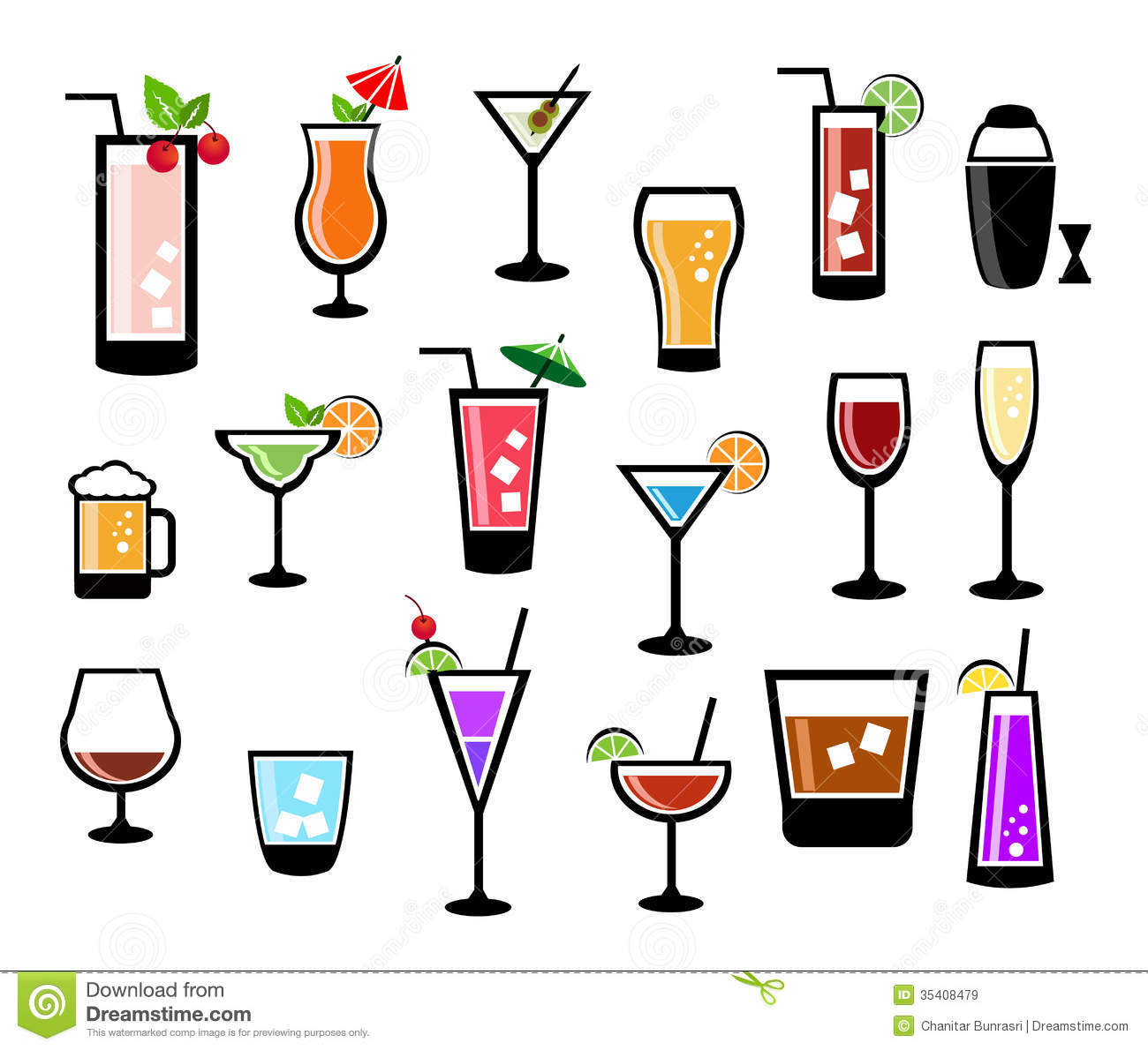 cocktail icon set royalty free stock images image 35408479 Popcorn Clip Art Popcorn Clip Art