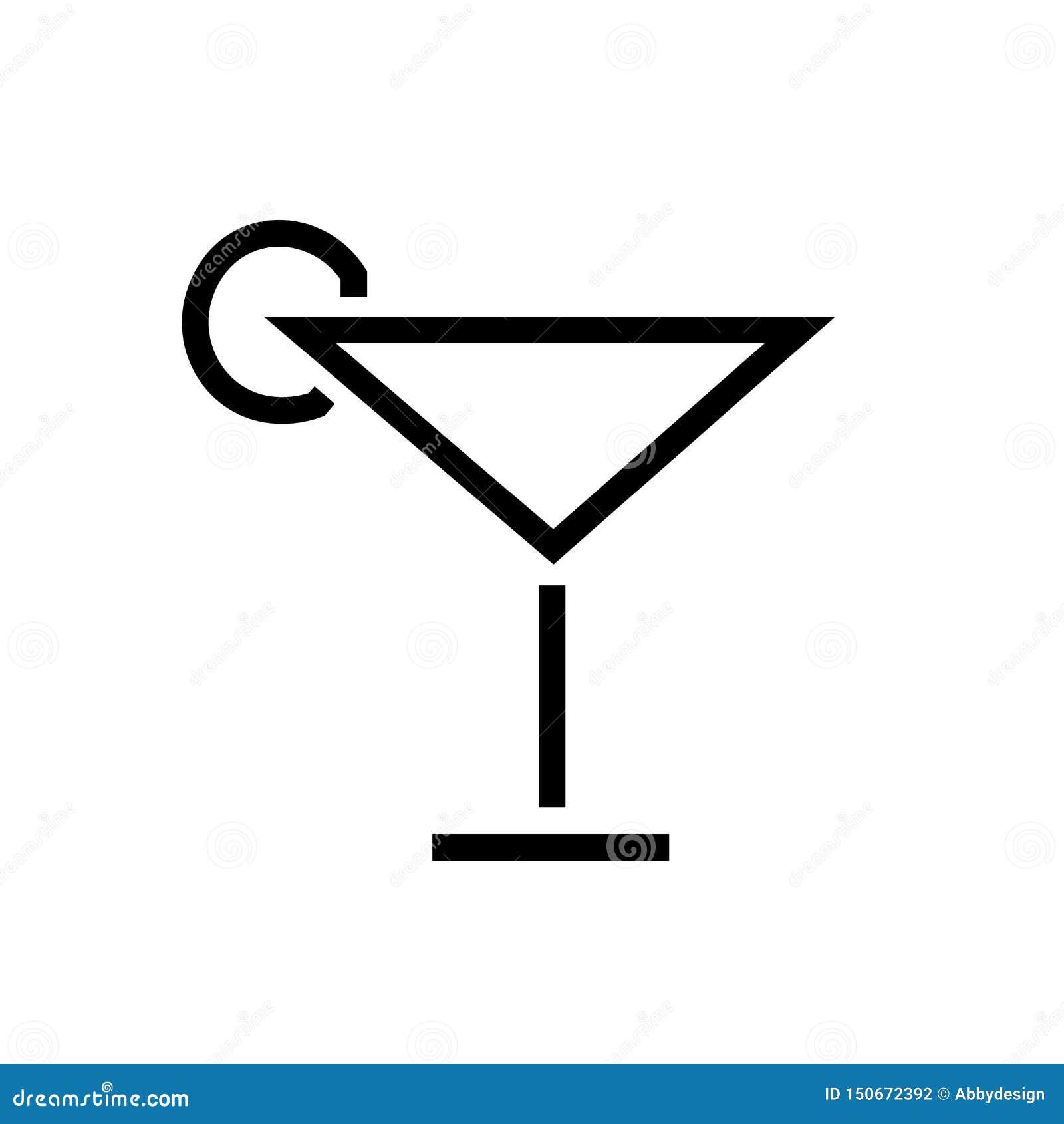 Cocktail-Ikonen-Vektor