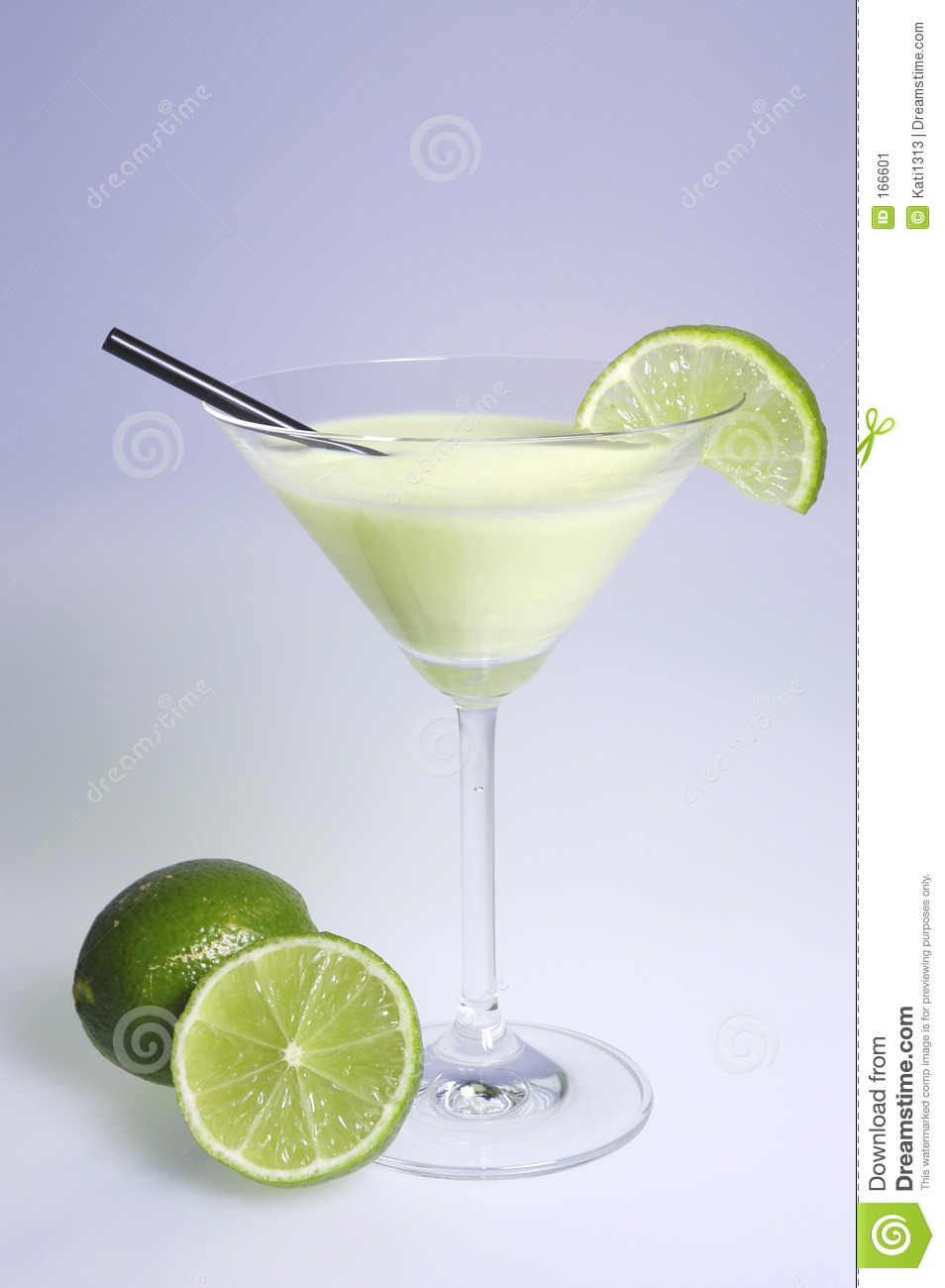 Cocktail with limes