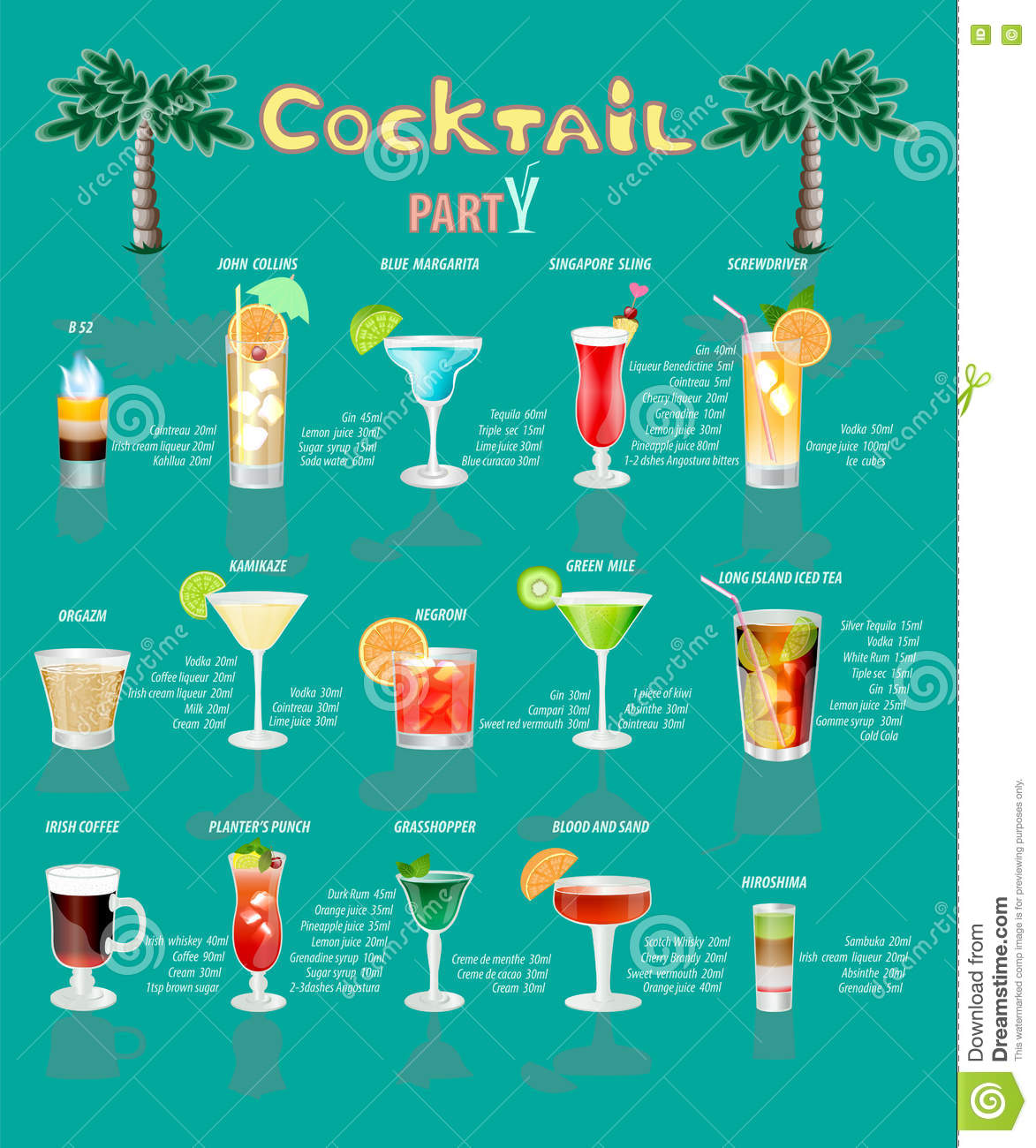 list of popular cocktails
