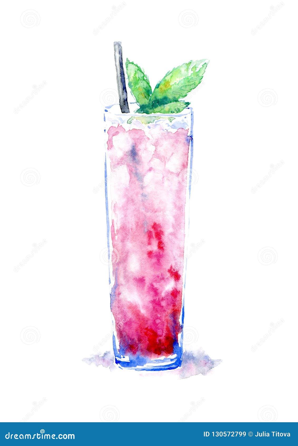 Cocktail mit Eisminze Bild eines alkoholischen Getränks