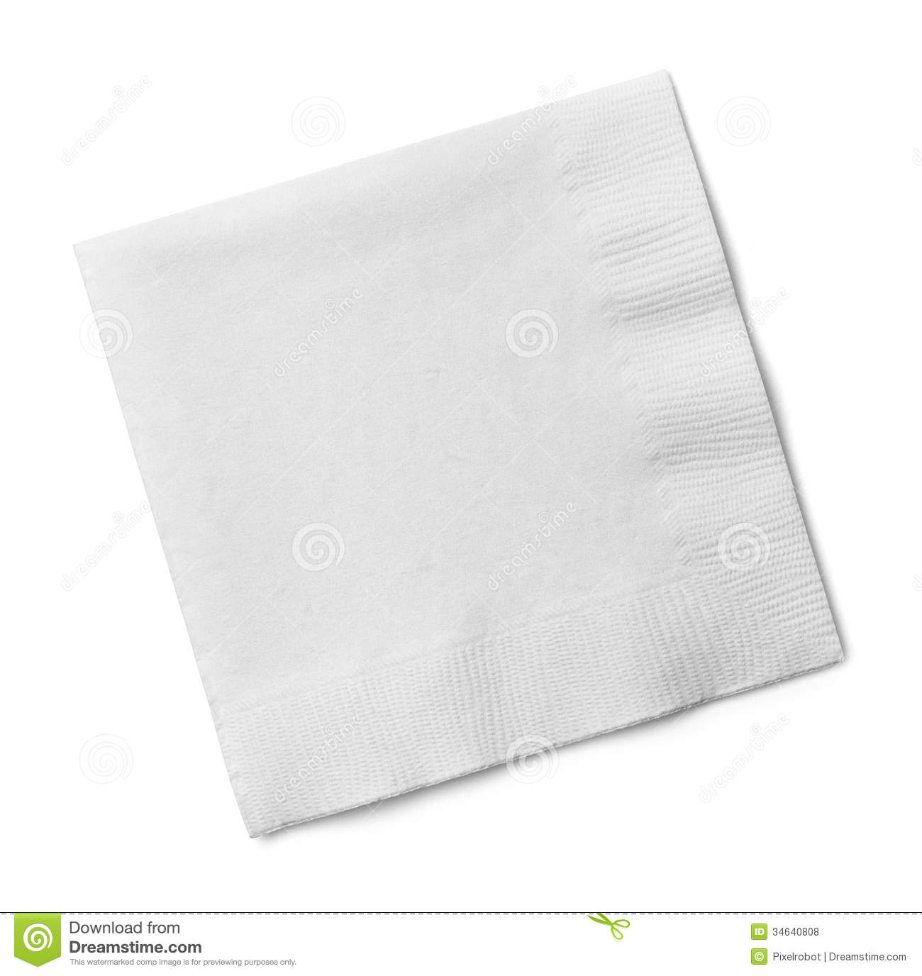Cocktail Napkin Stock Photo Image Of Paper Shape Blank