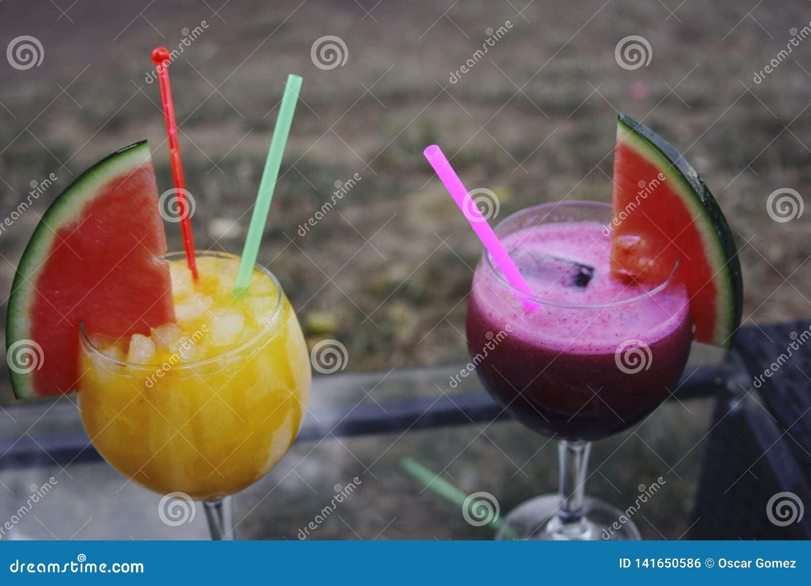 Cocktail no verão