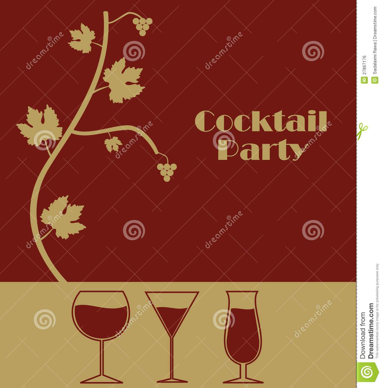 cocktail party stock vector image of holiday alcoholic 27867176. Black Bedroom Furniture Sets. Home Design Ideas
