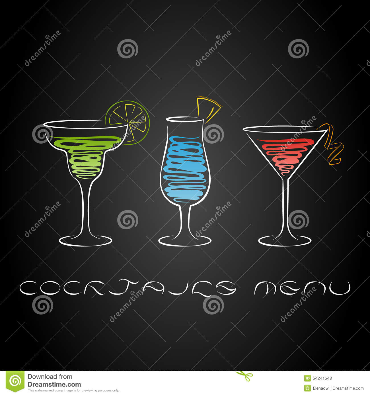 cocktail party design menu background. stock vector - illustration