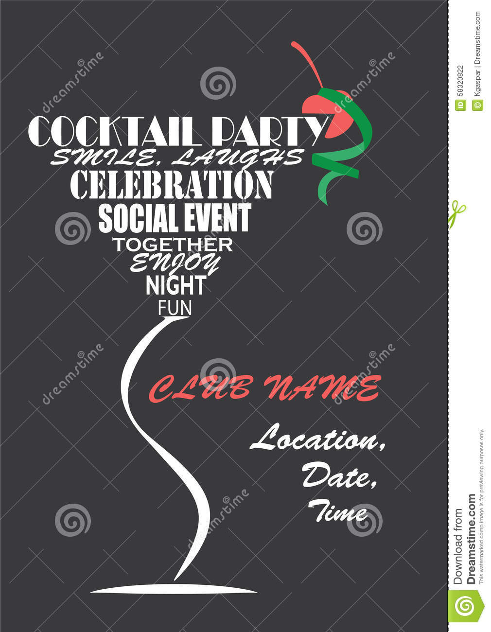 invitation for cocktail party