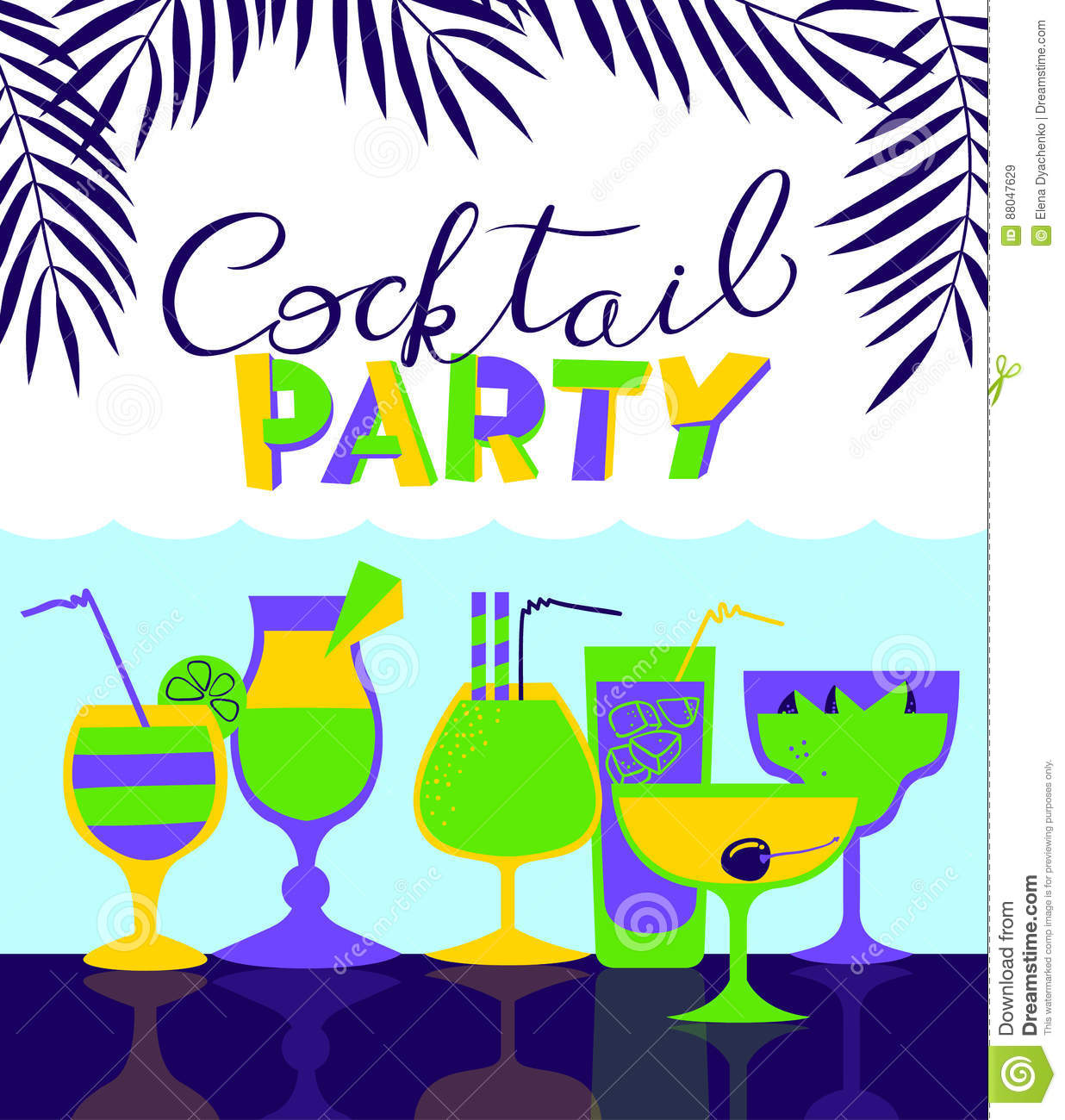 cocktail party holiday invitation background for night club or stock vector image 88047629. Black Bedroom Furniture Sets. Home Design Ideas