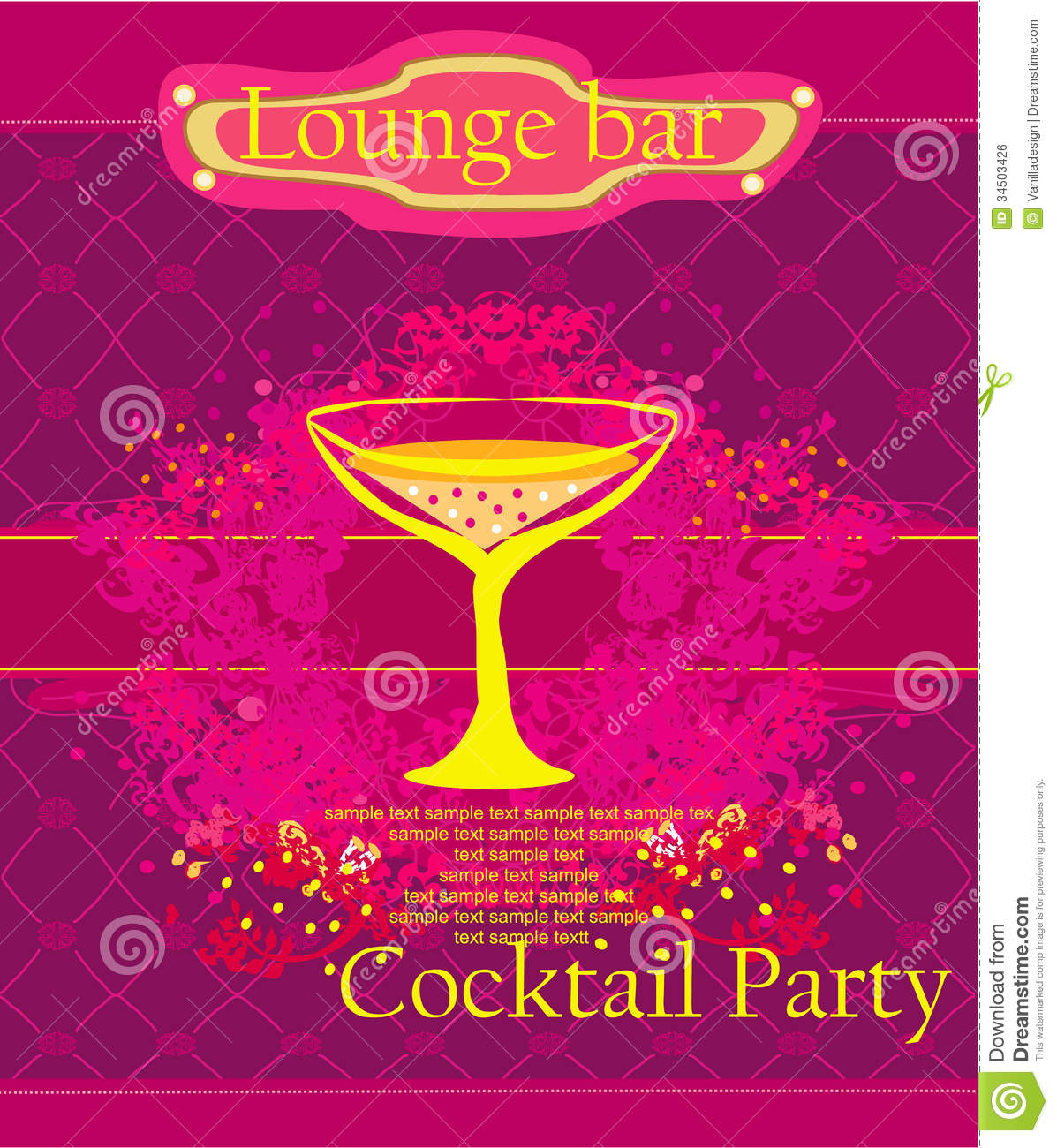 Cocktail Party Invitation Card Royalty Free Image Image – Cocktail Party Invitations Templates Free