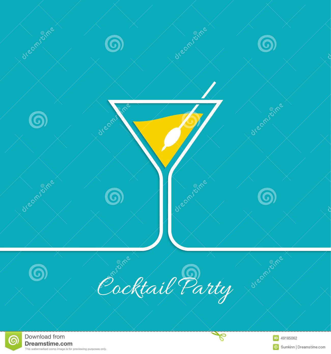 cocktail party stock vector image 49185062. Black Bedroom Furniture Sets. Home Design Ideas