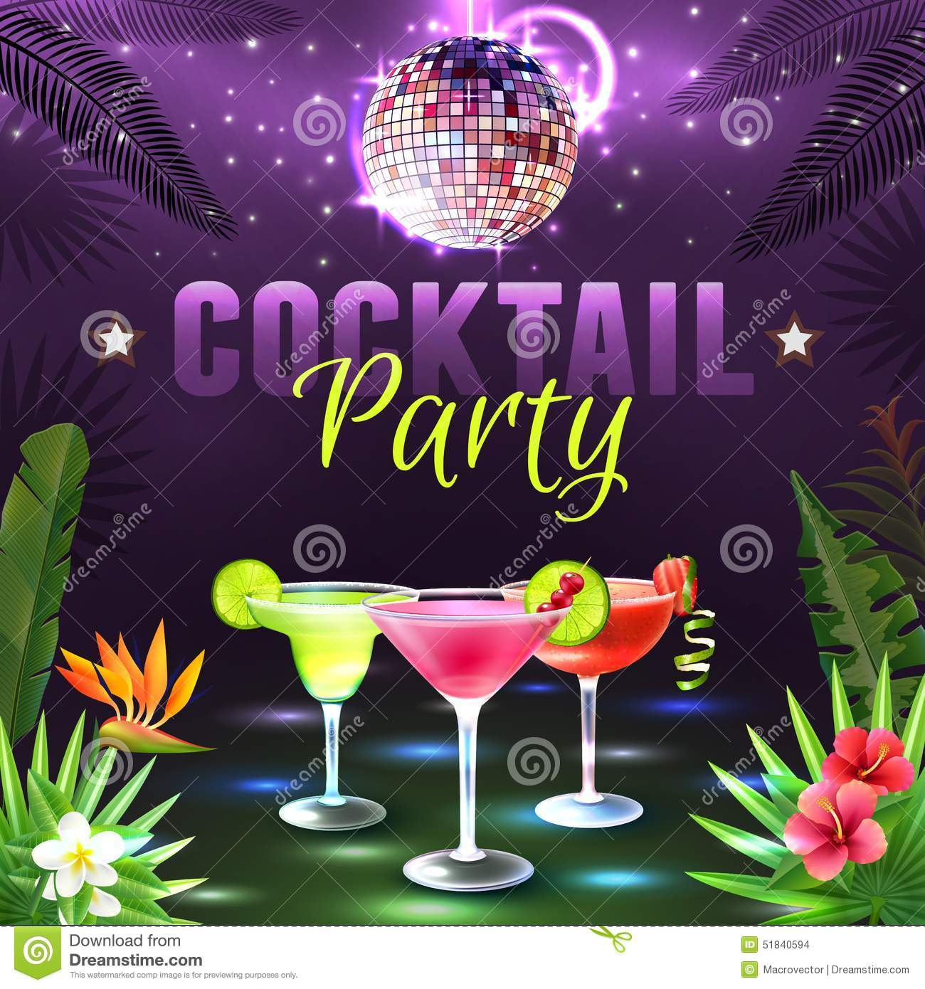 cocktail party poster stock vector  illustration of layout