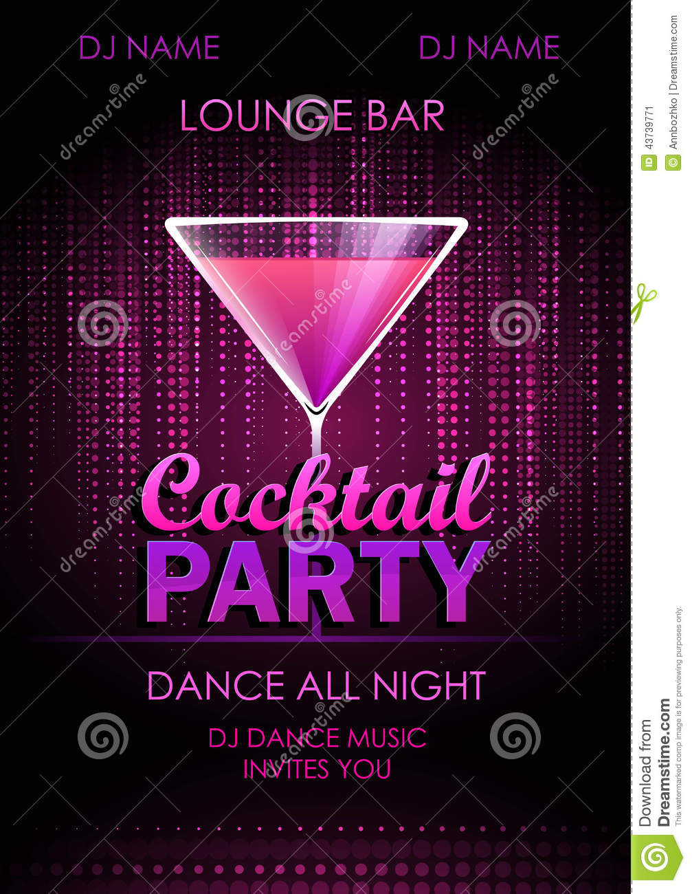 cocktail party poster stock vector  illustration of happy