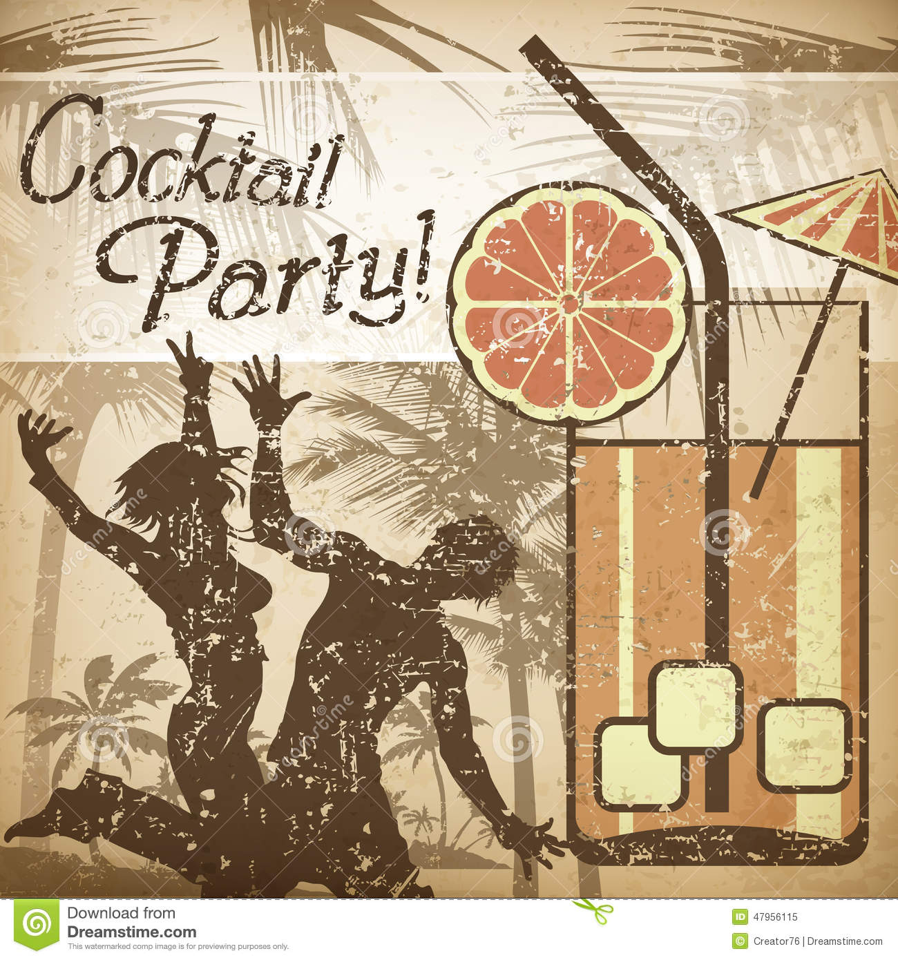 Cocktail Party Poster Stock Vector - Image: 47956115