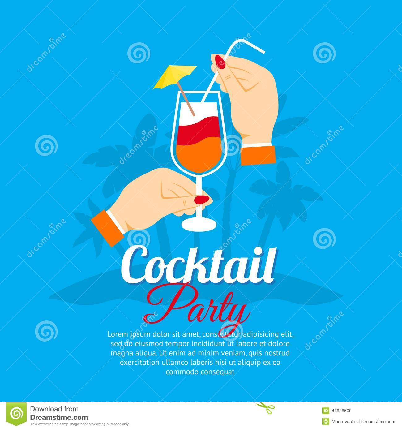 cocktail recipe poster royalty free illustration 49819347. Black Bedroom Furniture Sets. Home Design Ideas