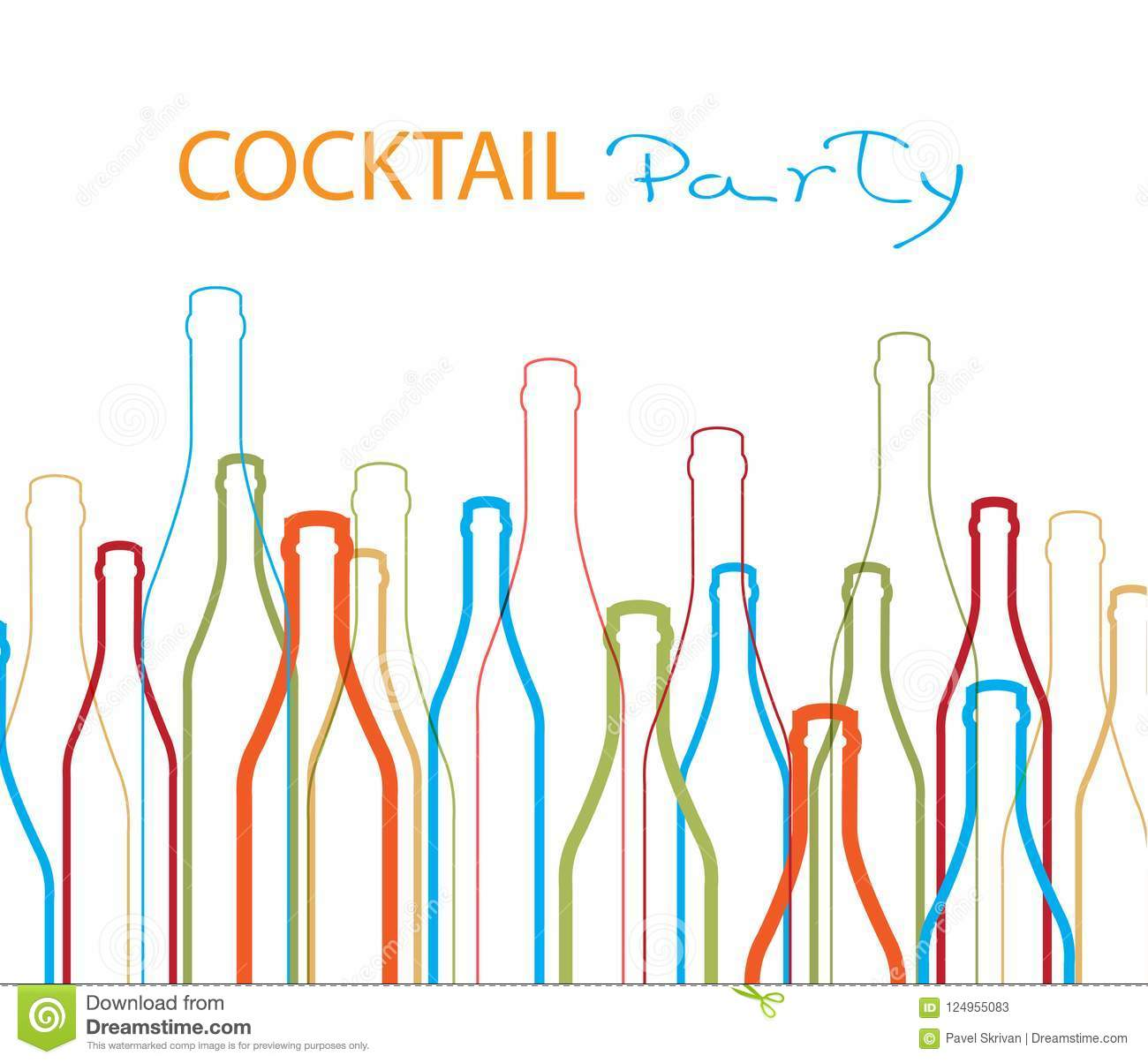 Cocktail Party Vector Ilustration Design Stock Vector