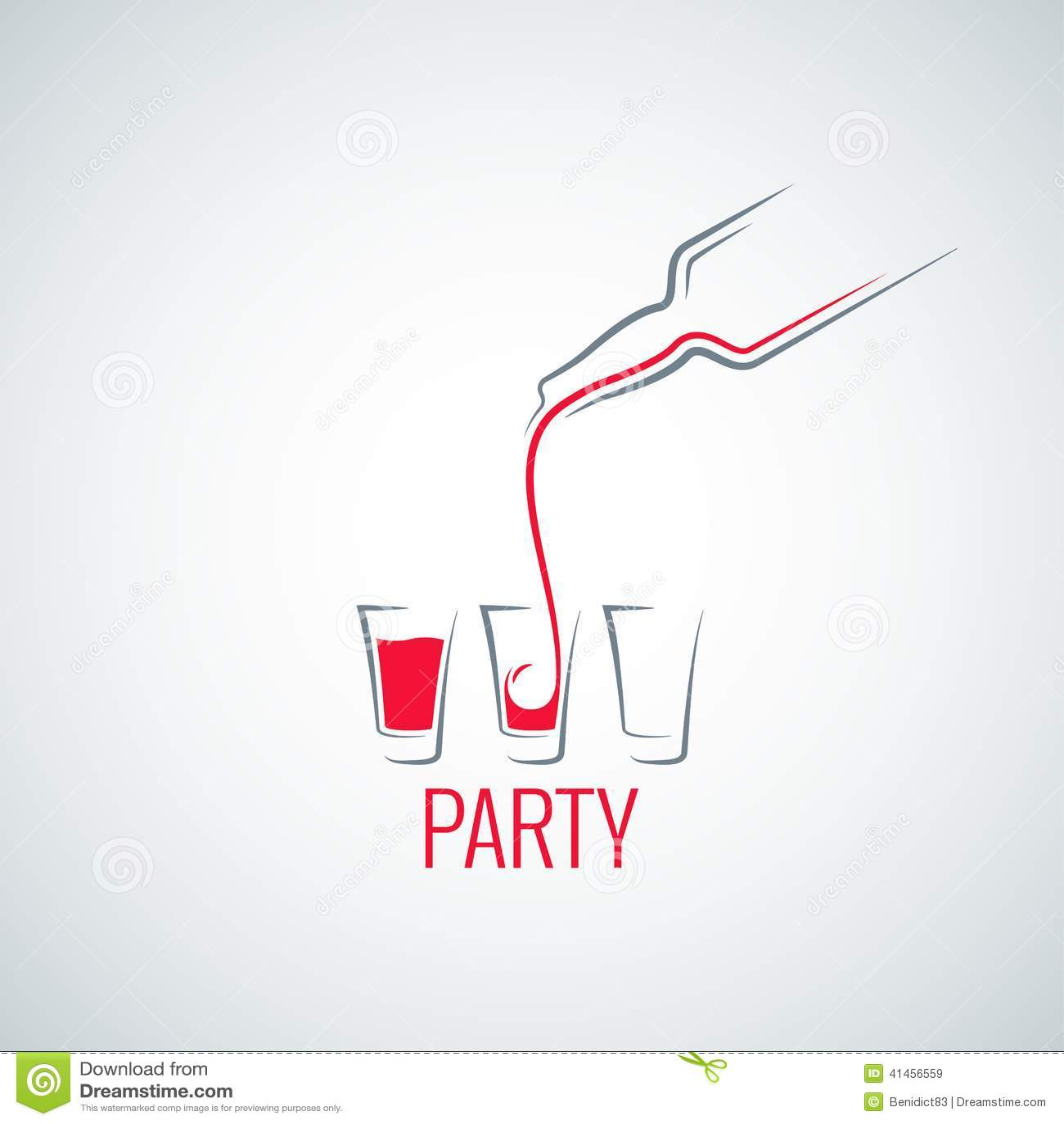 cocktail shot glass bottle background stock vector image