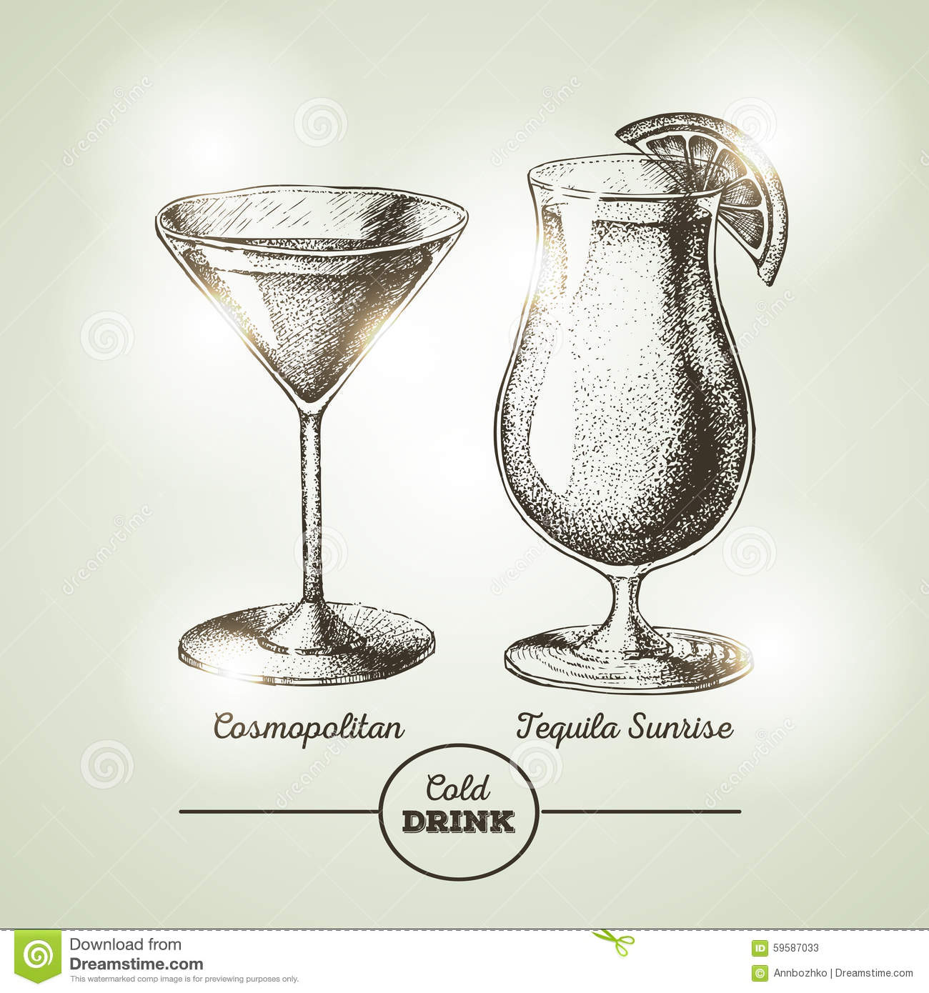 Cocktail sketch stock vector image 59587033 for Sketch online free