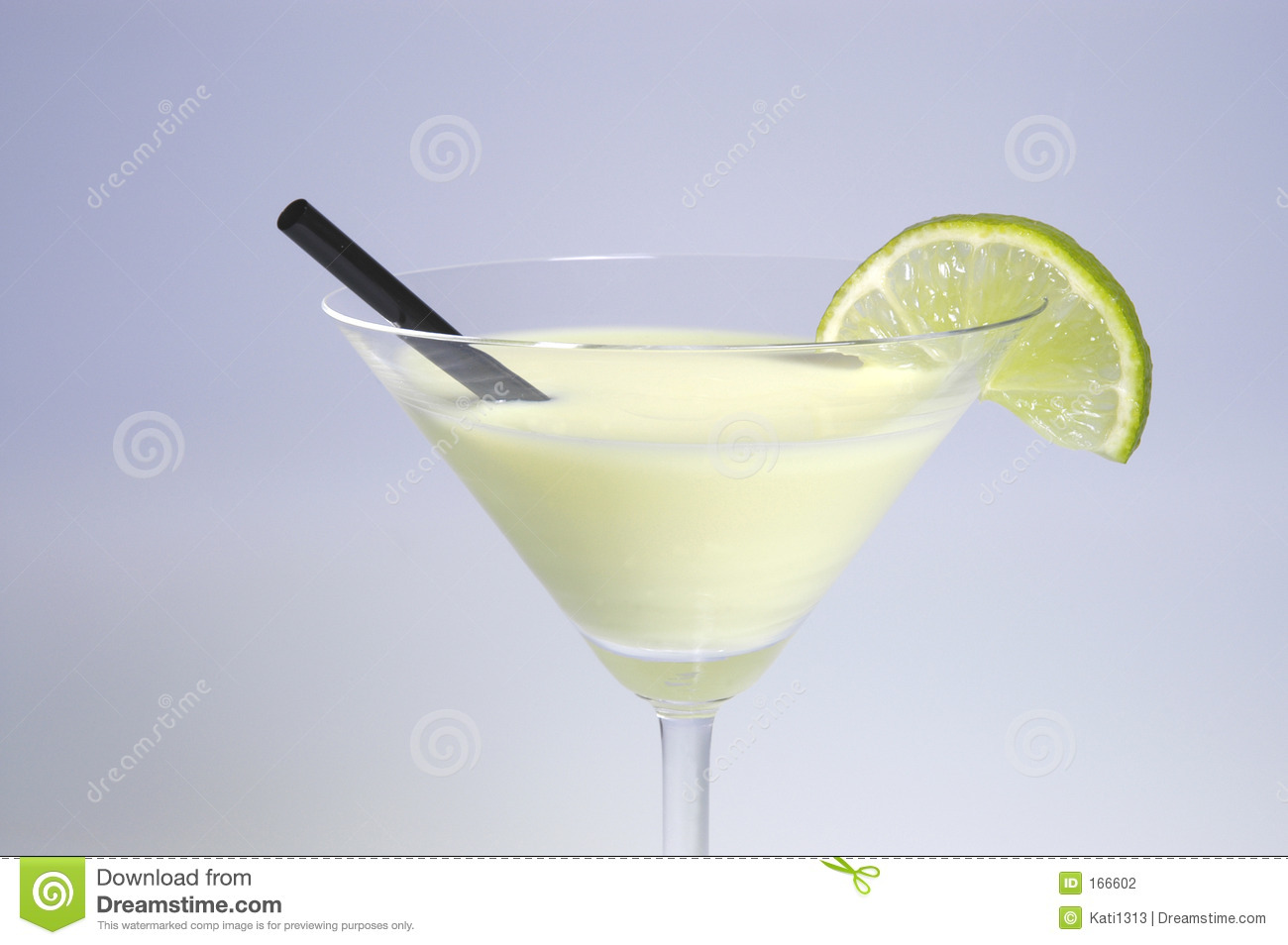 Cocktail with slice of lime