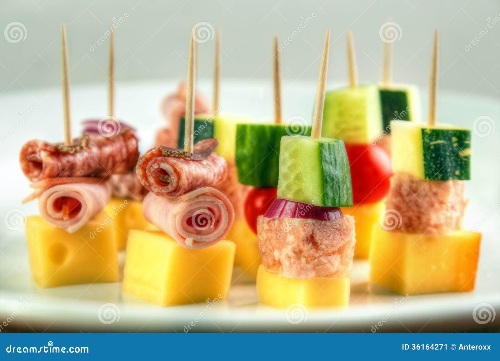 cocktail stick snacks stock image image 36164271. Black Bedroom Furniture Sets. Home Design Ideas