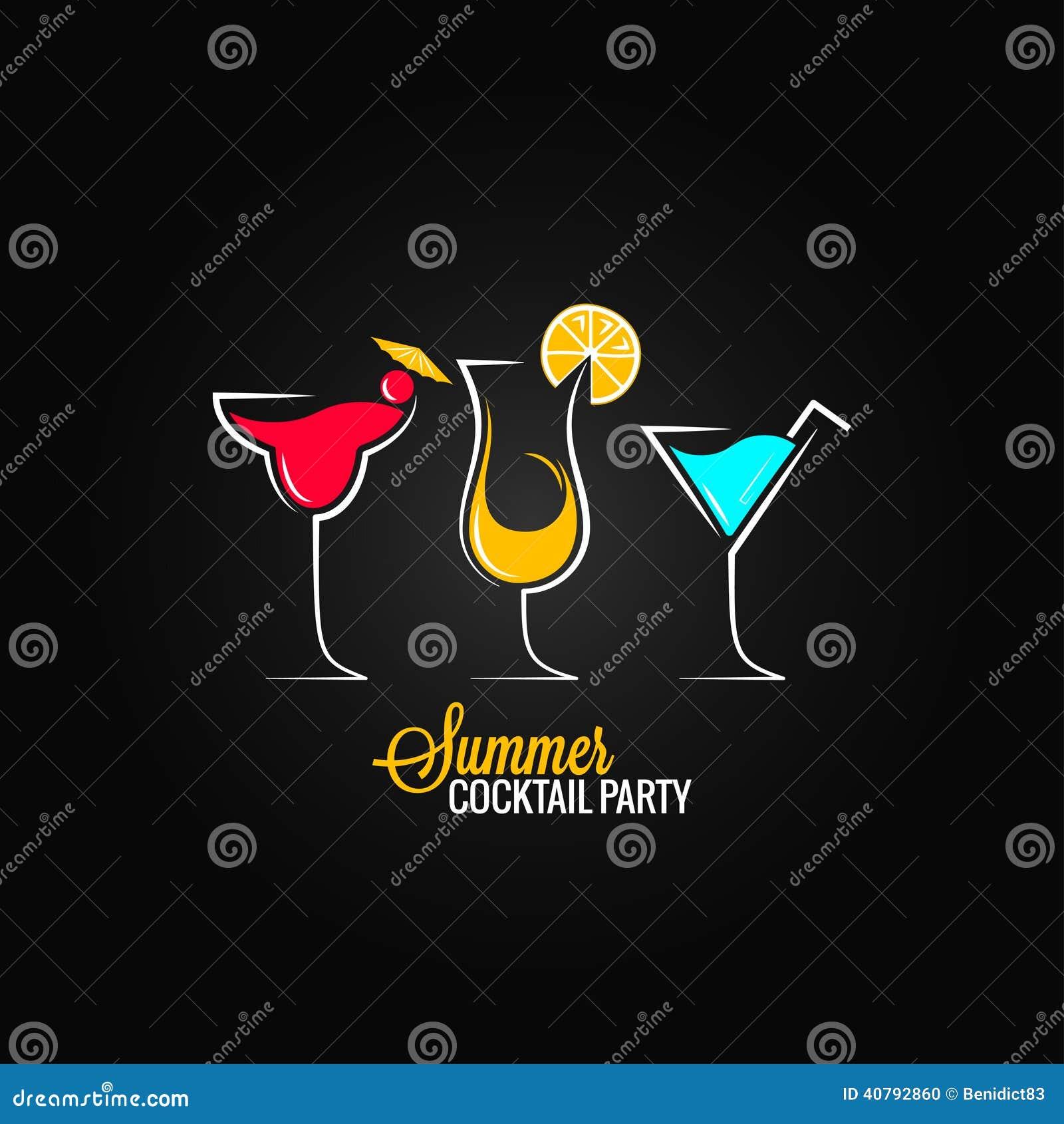 Cocktail summer party design menu background