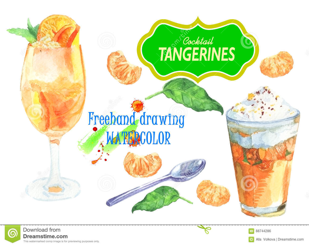 Cocktail with tangerines